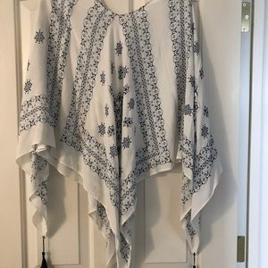 Maurice's navy and white poncho